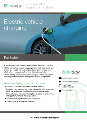 Electric Vehicle Charging For Hotels