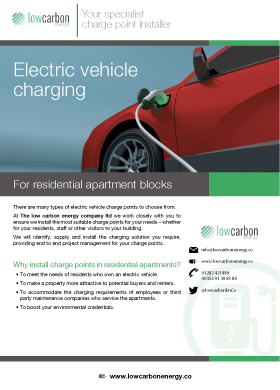 Electric Vehicle Charging For Residential Apartment Blocks