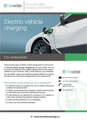 Electric Vehicle Charging For Restaurants