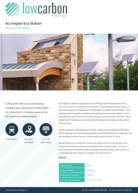 Accrington Eco Station Solar Panels