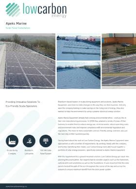 Apeks Marine Solar Panel Installation