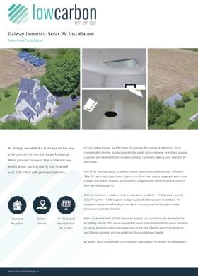 Galway Domestic Solar PV Installation