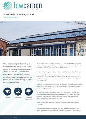 St Michael's CE Primary Solar Installation