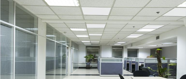 infrared heating in office