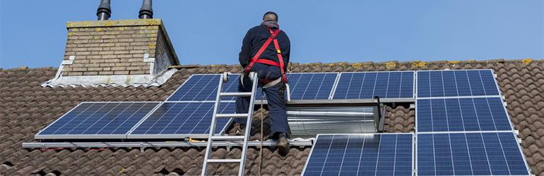 fitting solar panels