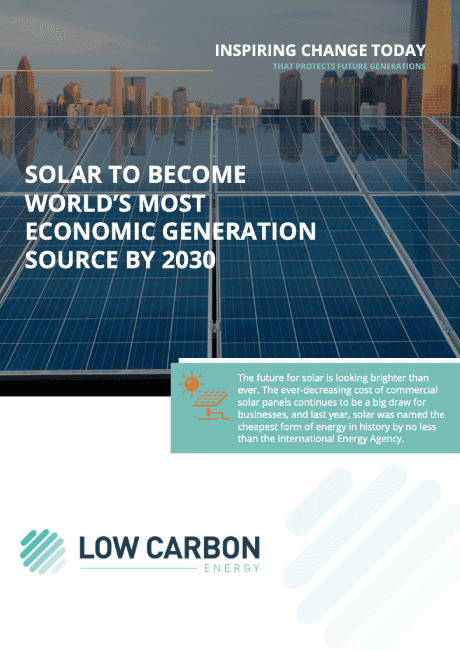 Solar to become world's most economic generation source by 2030